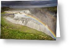 Gulfoss Waterfalls Greeting Card