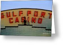 Gulfport Casino Greeting Card