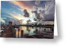 Gulfport Harbor Colors Greeting Card