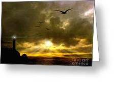 Gull Flight Greeting Card