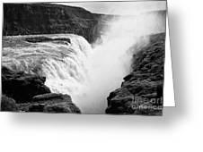 Gullfoss Waterfall Iceland Greeting Card
