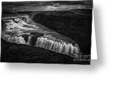Gullfoss Waterfall Greeting Card