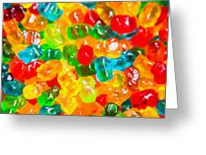 Gummy Bears Abstract Art Greeting Card