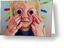 Gummy Eyes Gummy Worms Greeting Card