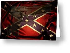 Gun And Confederate Flag Greeting Card