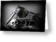 Gun And Skull Greeting Card