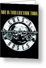 Guns And Roses Logo1 2017 Greeting Card