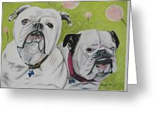 Gus And Olive Greeting Card