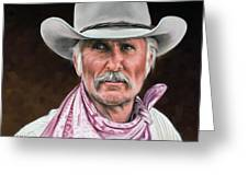 Gus Mccrae Texas Ranger Greeting Card by Rick McKinney