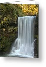 Gushing At Silver Falls Greeting Card