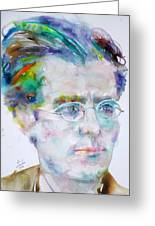 Gustav Mahler - Watercolor Portrait.3 Greeting Card
