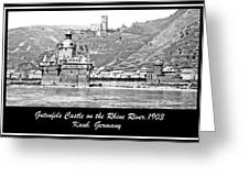 Gutenfels Castle On The Rhine, Kaub, Germany, 1903, Vintage Phot Greeting Card