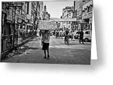 Guwahati In Black And White Greeting Card