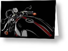 Guzzi Greeting Card by Jeremy Lacy