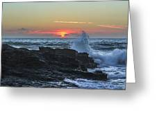 Gwithian Beach Sunset  Greeting Card