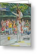 Gymnast Greeting Card by Charles Hetenyi