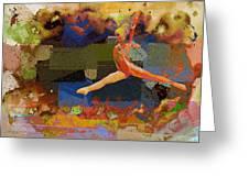 Gymnast Girl Greeting Card