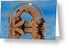 Gymnastic Girls 1209185 Greeting Card