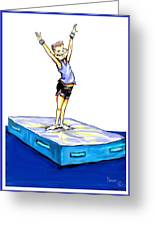 Gymnastic Perfection Greeting Card