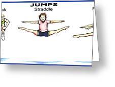 Gymnastics Jumps Greeting Card