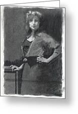 Gypsy A Study Greeting Card