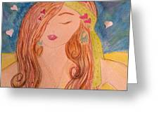 Gypsy Girl 2 Love To The World Greeting Card