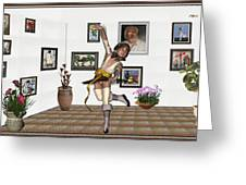 Digital Exhibartition _  Dancing Girl  Greeting Card
