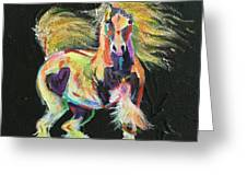 Gypsy Gold Pony Greeting Card