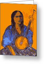 Gypsy Music Greeting Card by Johanna Elik