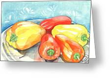 Gypsy Peppers Greeting Card