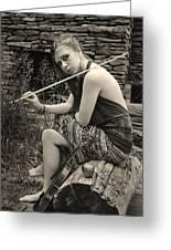 Gypsy Player Greeting Card