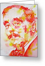 H. G. Wells - Watercolor Portrait Greeting Card