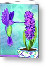 H Is For Hummingbird Greeting Card