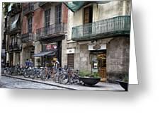 Barcelona Shops Greeting Card