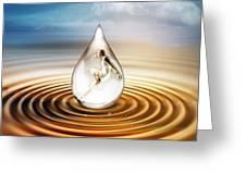 H2O Greeting Card