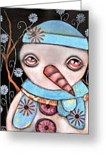 Haaaa Its Snowing Greeting Card by  Abril Andrade Griffith