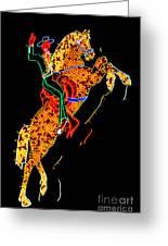 Hacienda Horse And Rider Greeting Card