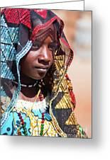 Hadji A Fulani Girl II Greeting Card