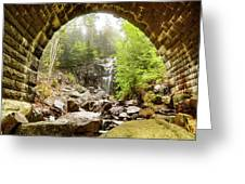 Hadlock Falls Under Carriage Road Arch Greeting Card