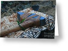 Hafted Hawaiian Adze Wailea Maui Hawaii Greeting Card