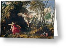 Hagar And Ishmael In The Wilderness Greeting Card