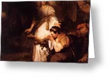 Hagar And The Angel 1645 Greeting Card