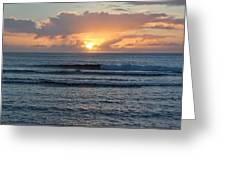 Hagatna Bay Sunset Greeting Card