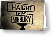 Haight Ashbury Greeting Card