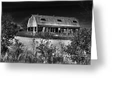 Hainesville Barn B/w Greeting Card