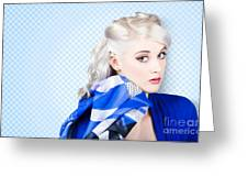 Hair And Beauty Fashion Portrait Greeting Card