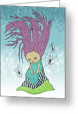 Hair Is A Tree Greeting Card