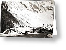 Hairpin Turn Greeting Card by Marilyn Hunt