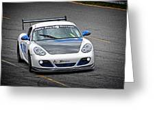 Hairy Dog Garrrage - Porsche - Pit Lane Greeting Card