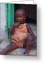 Haitian Boy Greeting Card